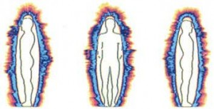 Фиг. 1 Човешка аура преди теста